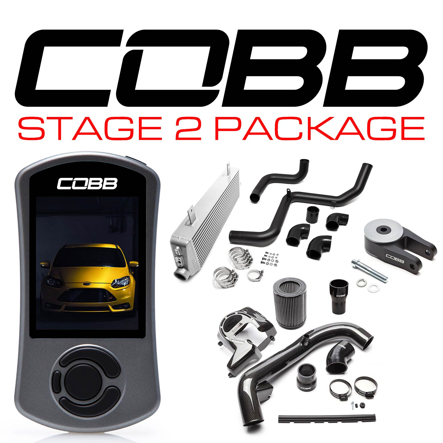 COBB Stage 2 Carbon Fibre Power Pack Focus ST INC. CUSTOM TUNE