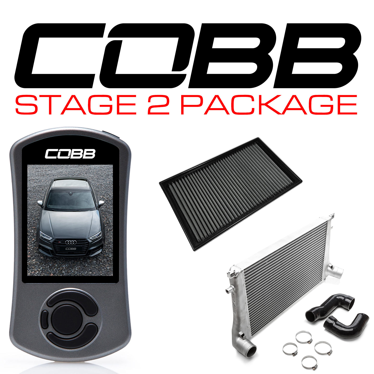 COBB Stg2 Power Pack - Audi 8V S3 WITH CUSTOM TUNE