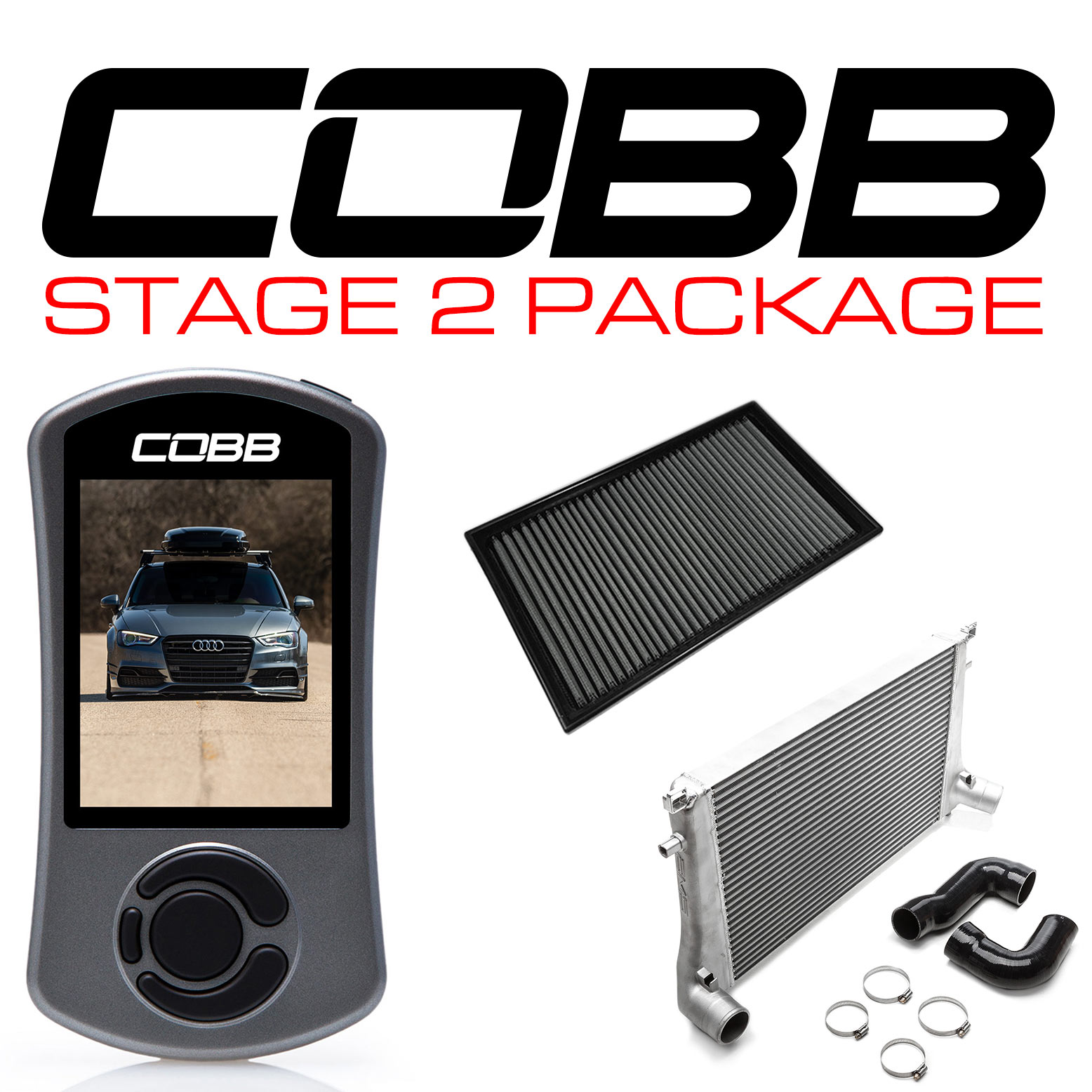 COBB Stg2 Power Pack Audi 8V A3 INC CUSTOM TUNE