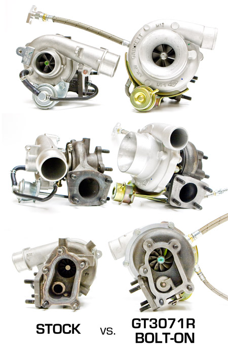ATP MazdaSpeed DISI Bolt-On Turbo Compared to MazdaSpeed OEM K04 Turbo